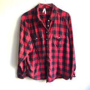 Truth NYC Buffalo Check Flannel Shirt Red Black 3X